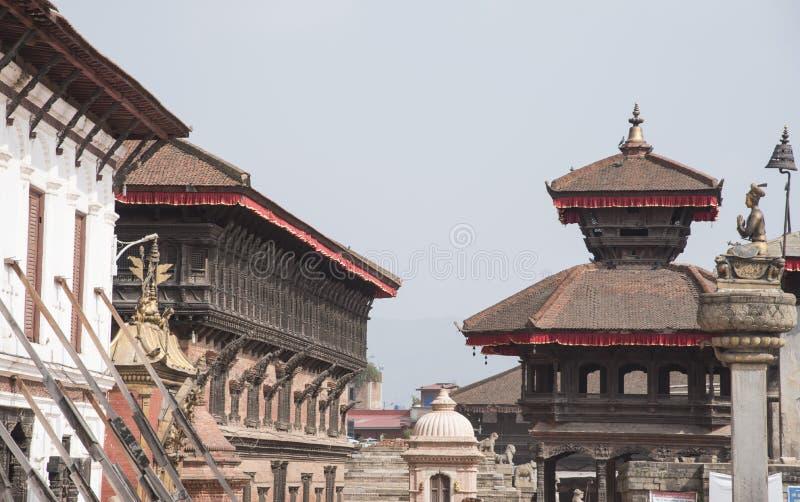 Place de Bhaktapur Durbar, site de patrimoine mondial, Népal photographie stock libre de droits