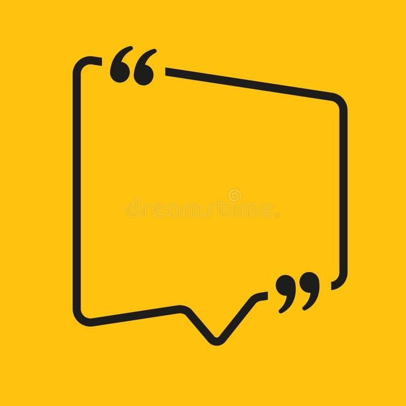 Place de bulle de la parole Videz la parenthèse de citation illustration libre de droits