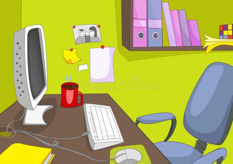 Place de bureau illustration stock