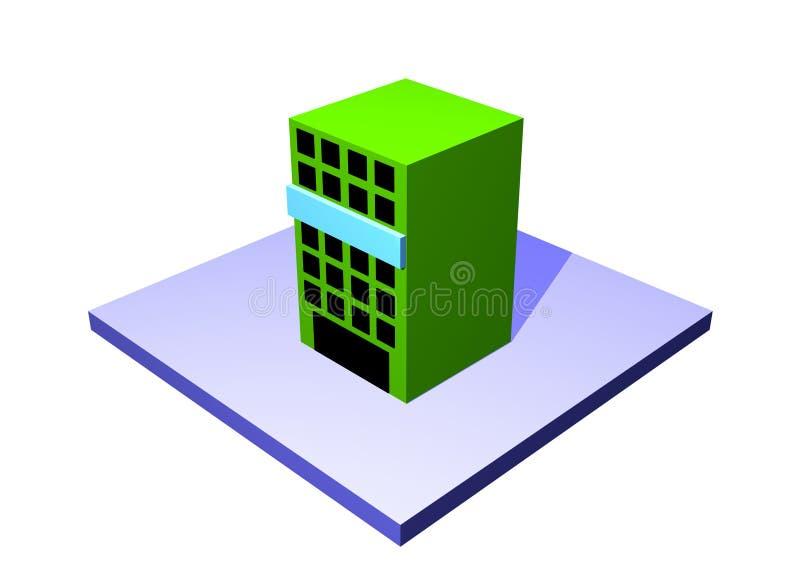 Place de cargaison un tableau Objec de chaîne d'approvisionnements de logistique illustration de vecteur