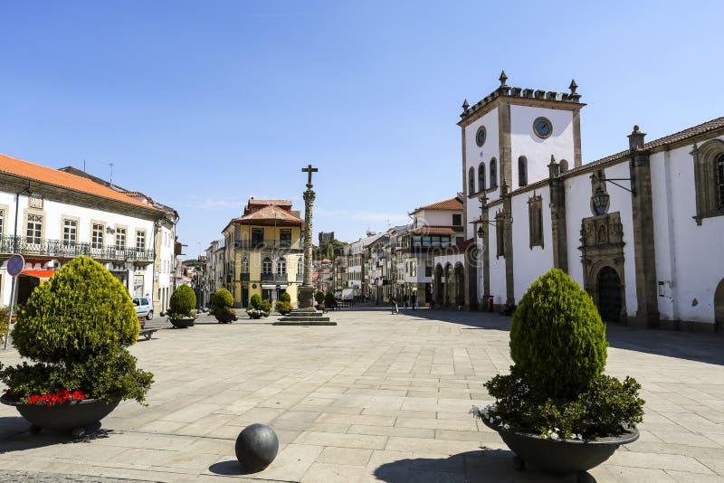 Place de cathédrale de Braganca image libre de droits