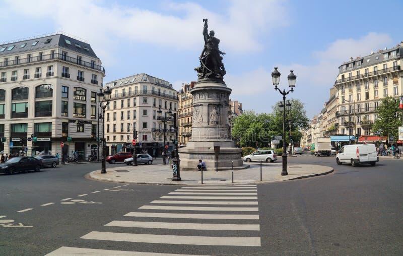 Place de Clichy à Paris, France photographie stock libre de droits