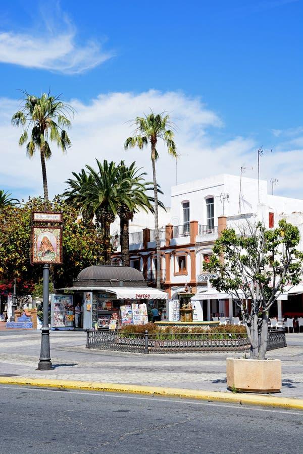 Place de couronnement, Ayamonte image libre de droits
