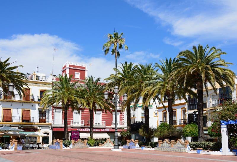 Place de couronnement, Ayamonte photographie stock libre de droits