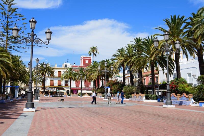 Place de couronnement, Ayamonte image stock