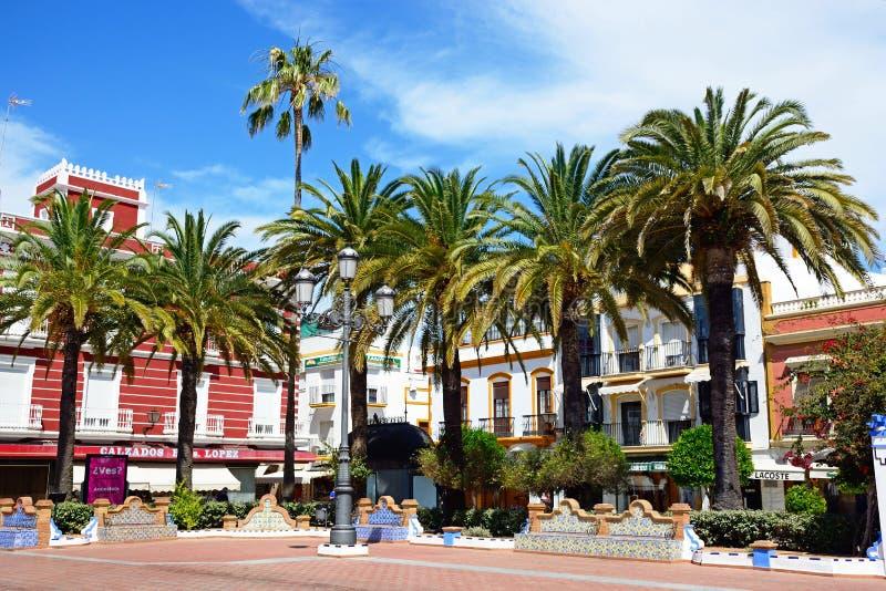 Place de couronnement, Ayamonte images stock