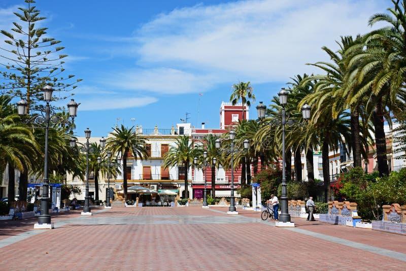 Place de couronnement, Ayamonte photos libres de droits