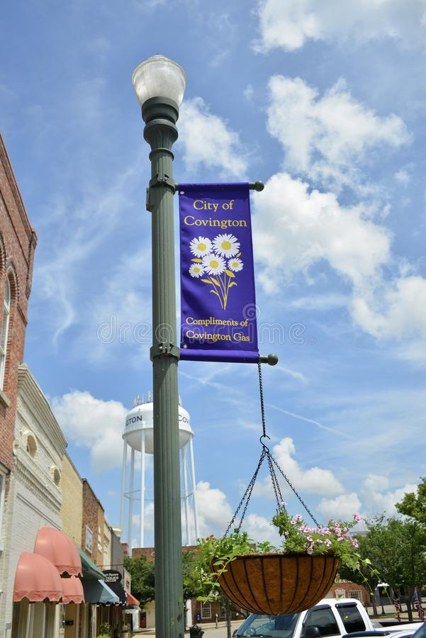 Place de Covington, Covington, TN images stock