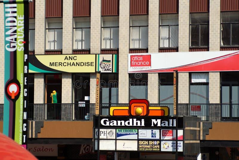 Place de Gandhi dans le CBD de Johannesburg images libres de droits