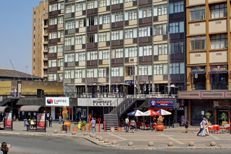 Place de Gandhi dans le CBD de Johannesburg image libre de droits