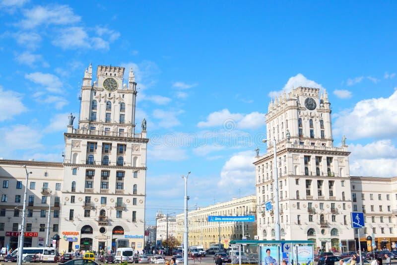 Place de gare ferroviaire à Minsk image stock