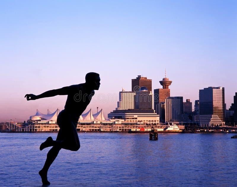 Place de Harry Jerome Statue et de Canada, Vancouver images stock