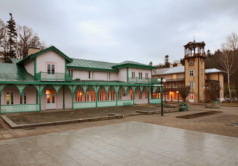 Place de Jozef Dietl dans Iwonicz-Zdroj poland photo libre de droits