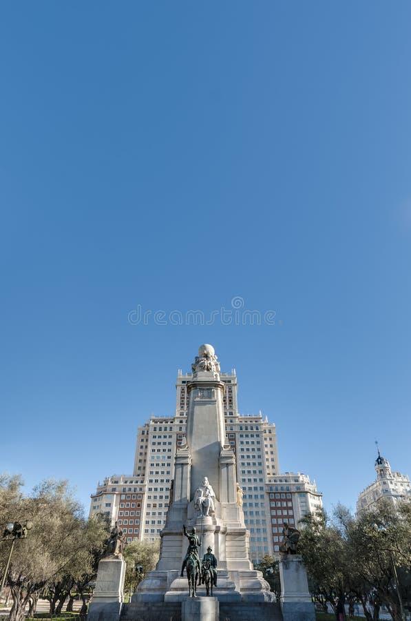 Place de l'Espagne en capitale espagnole image libre de droits