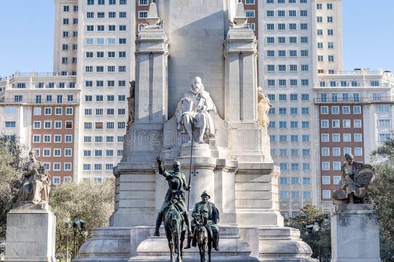 Place de l'Espagne en capitale espagnole images stock