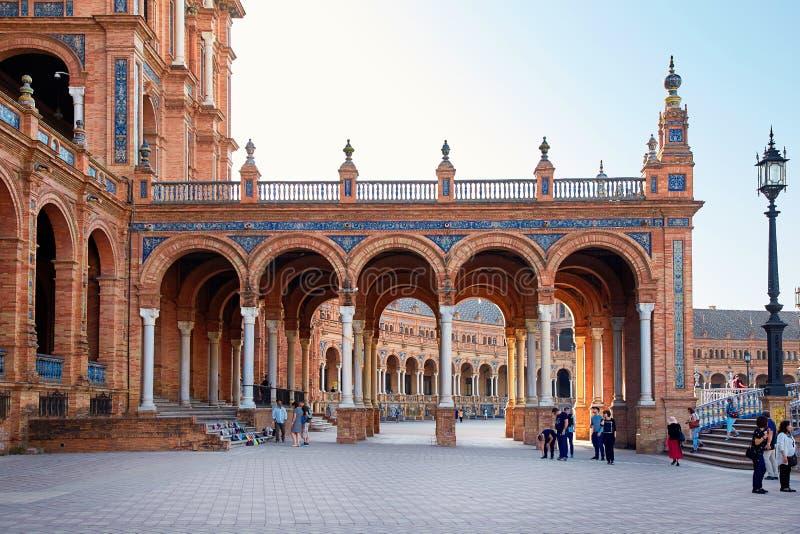 Place de l'Espagne, Séville, Espagne photos libres de droits