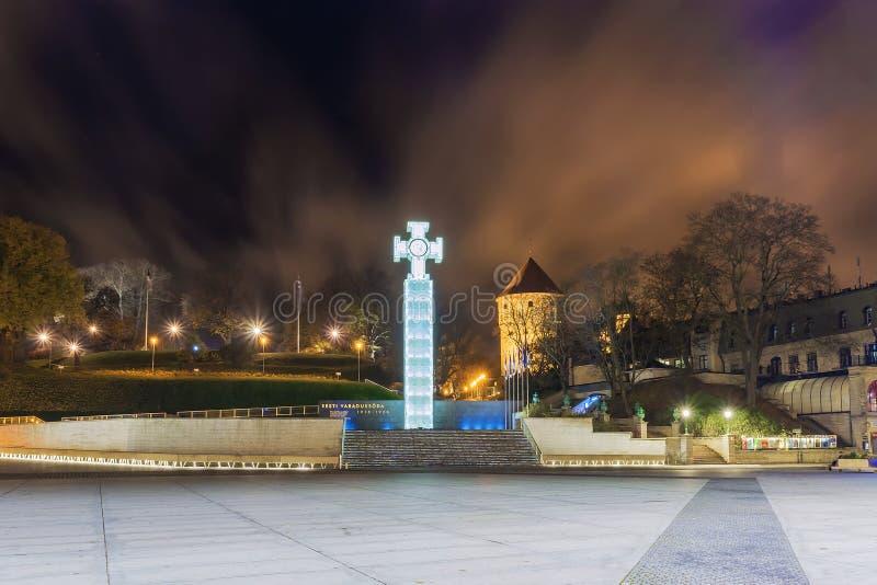 Place de l'indépendance à Tallinn l'Estonie photo stock