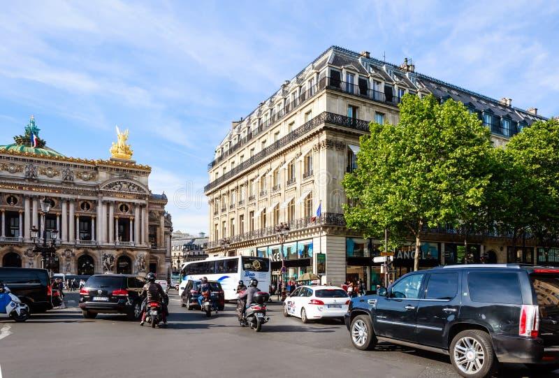 Place de L opéra de ` Hôtel grand de La Opéra de ressortissant de Paris image stock