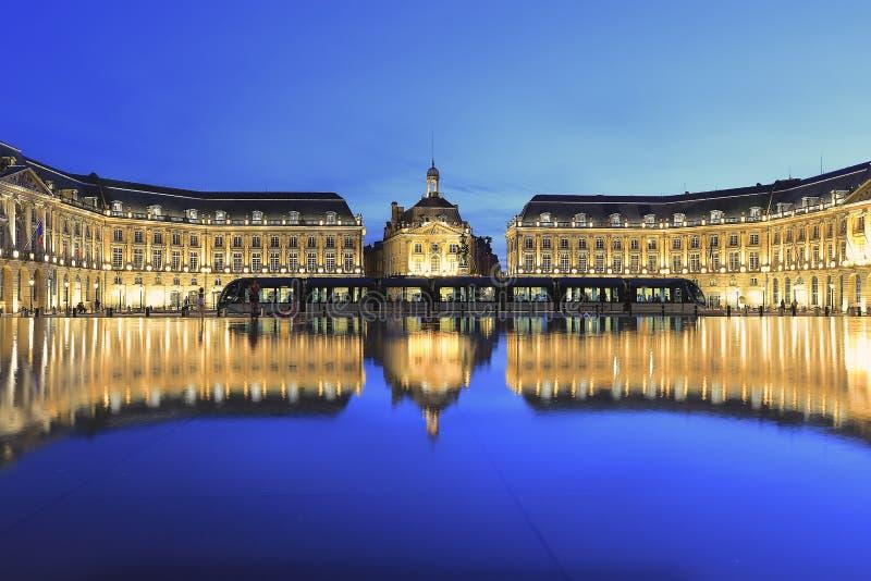 Place DE La Bourse in Bordeaux royalty-vrije stock foto's
