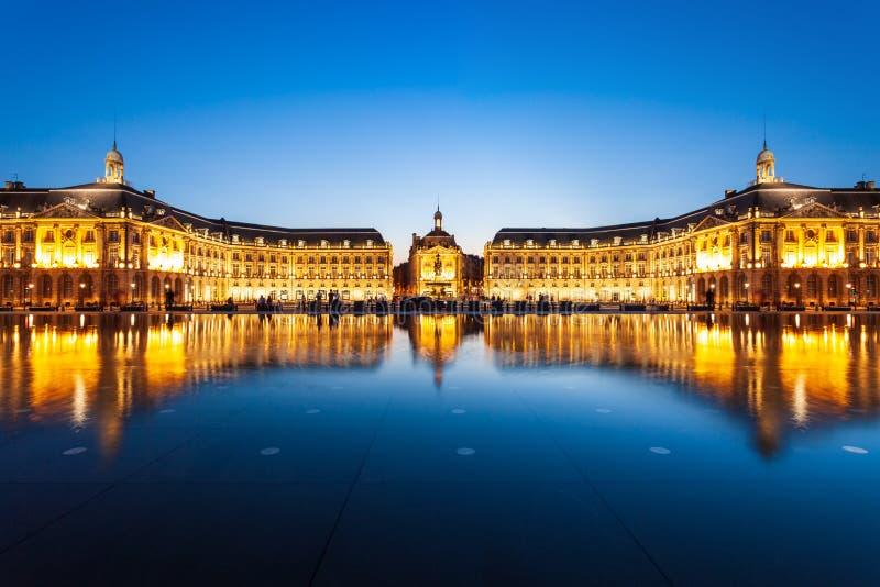 Place de Place de la Bourse, Bordeaux photos stock