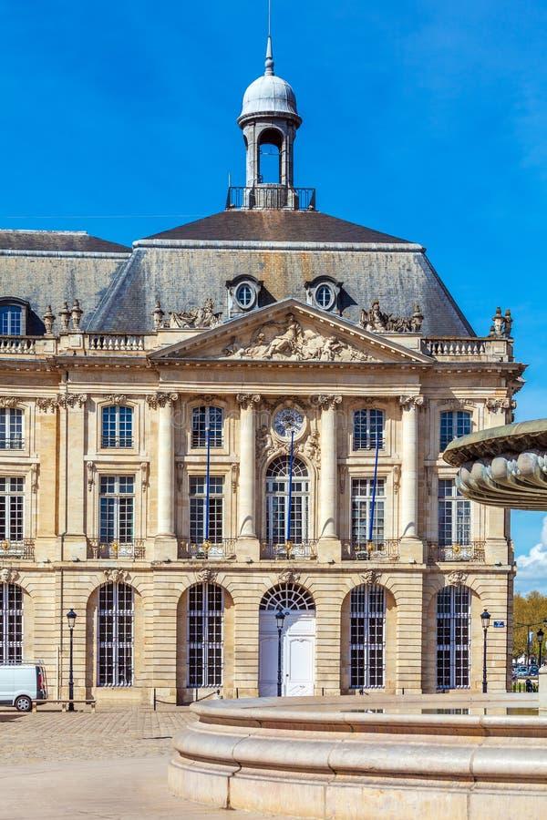 Place de la Bourse, Bordeaux, France. Place de la Bourse (1745-1747, designed by Jacques-Ange Gabriel), Bordeaux, France royalty free stock photography