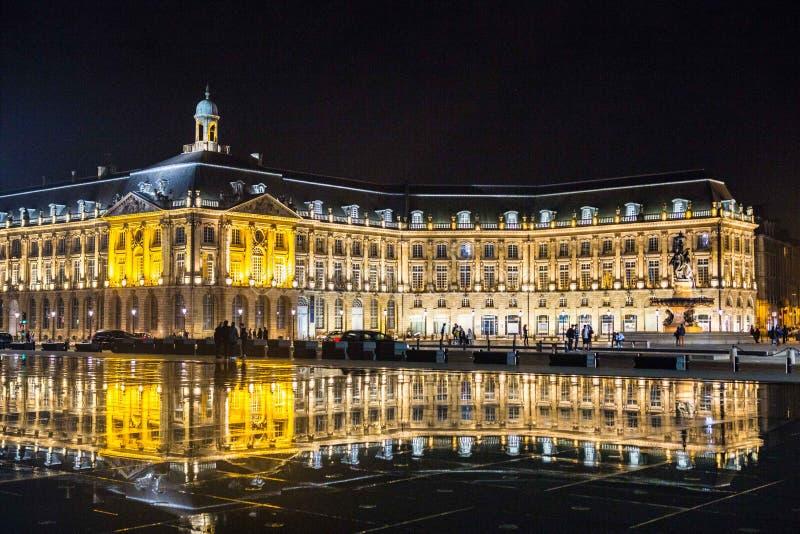 Place de la Bourse Miroir d eau. Place de la Bourse is one of the most recognizable sights of Bordeaux. Its architect was Ange-Jacques Gabriel. It was built from stock image