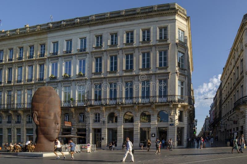 Place DE La Comedie of Komedievierkant in Bordeaux stock afbeeldingen