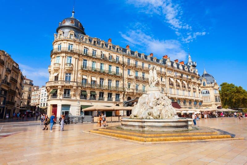 Place de la Comedie, Montpellier photographie stock libre de droits