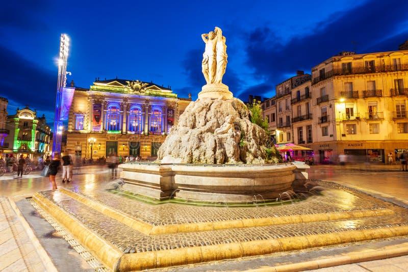 Place de la Comedie, Montpellier photos stock