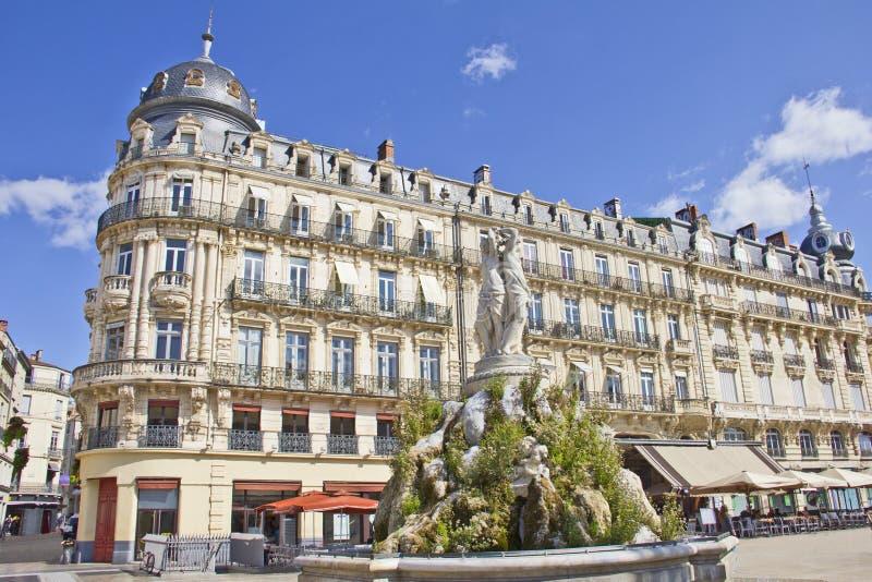 Place de la Comedie, Montpellier images libres de droits