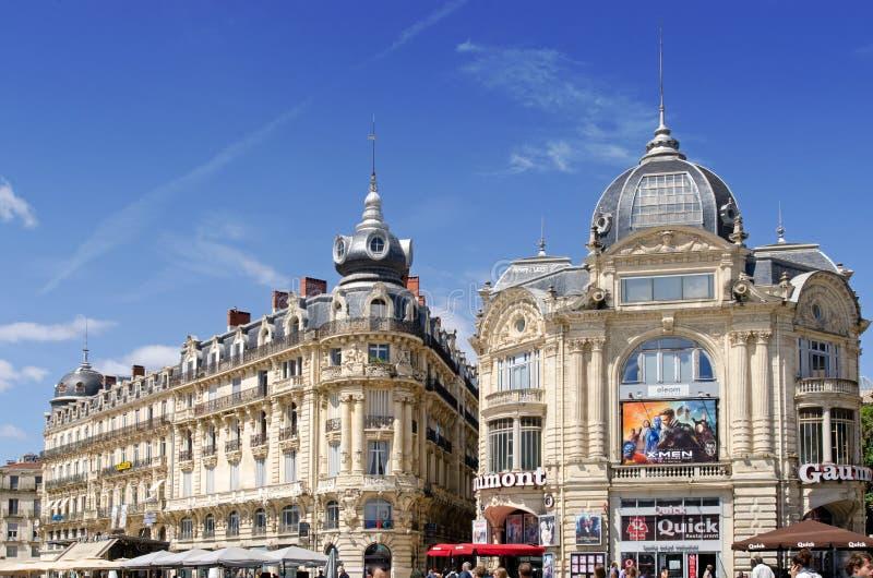 Place de la Comedie Montpellier images stock