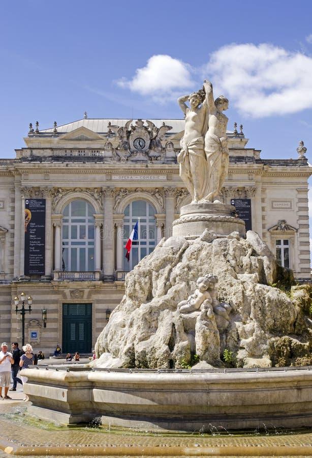 Place de la Comedie Montpellier imágenes de archivo libres de regalías