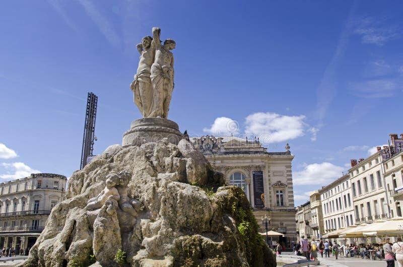 Place de la comedie montpellier fotografia stock for Montpellier citta