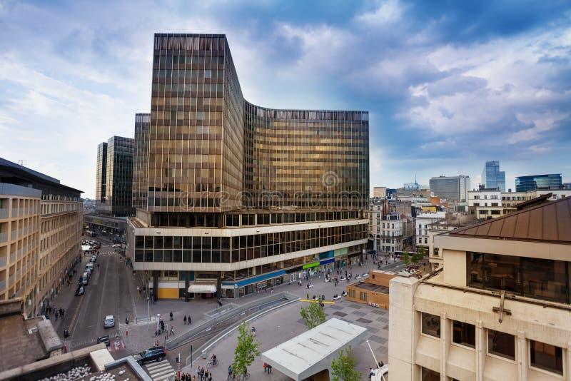 Place de la Monnaie a Bruxelles, Belgio fotografia stock libera da diritti