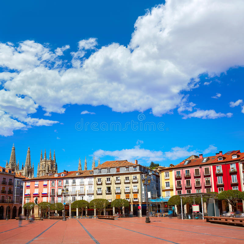 Place de maire de plaza de Burgos en Castille Leon Spain photos stock