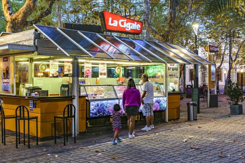 Place de Matriz, Ciudad Vieja, Montevideo, Uruguay photo stock