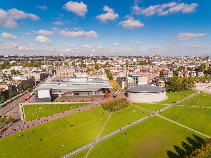 Place de musée d'Amsterdam, vue d'en haut photo stock