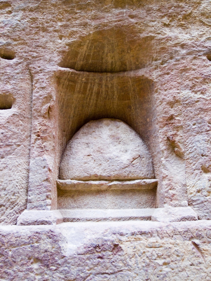 Place De Nabatean De Culte D Un Dieu Photos libres de droits