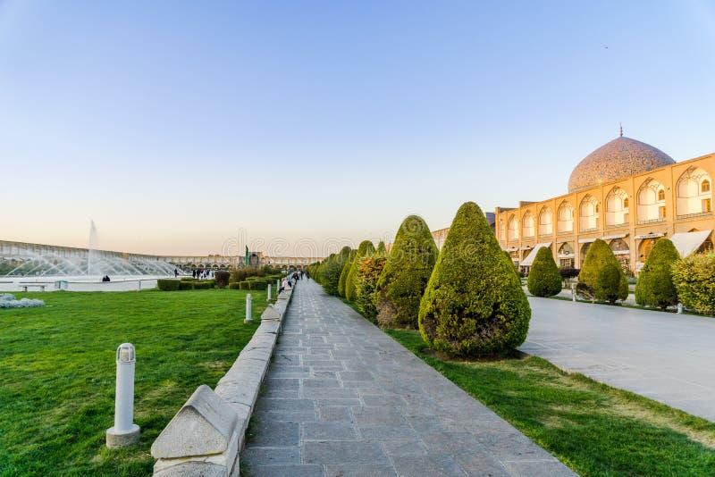 Place de Naqsch-e Dschahan - Imam Square à Isphahan - en Iran photos libres de droits
