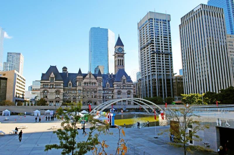 Place de Nathan Phillip dans le Canada de Toronto photographie stock libre de droits