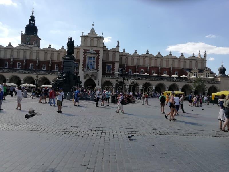 Place de palais de la vieille ville de Cracovie photos libres de droits