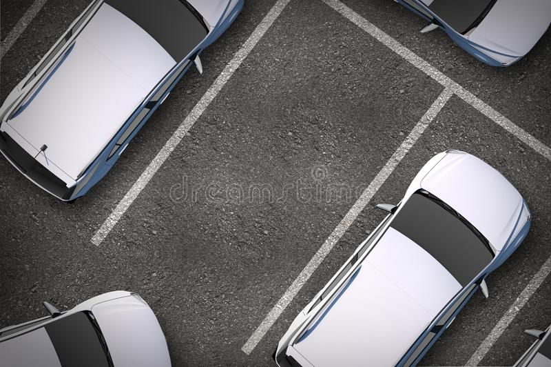 Place de parking gratuite illustration stock