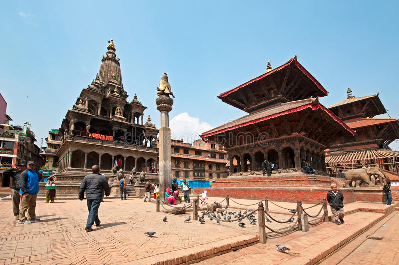 Place de Patan Durbar photographie stock