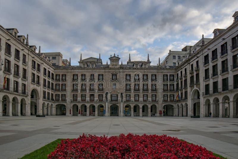 Place de Pedro Velarde à Santander, Espagne image libre de droits