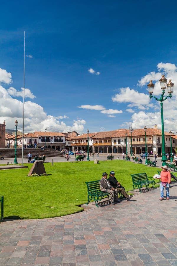 Place de Plaza de Armas dans Cuzco, Pérou photographie stock