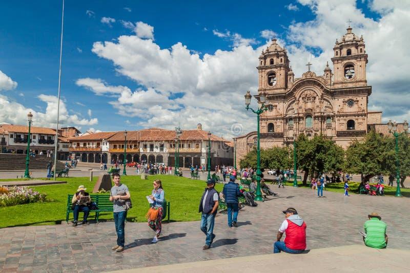 Place de Plaza de Armas dans Cuzco, Pérou photo stock