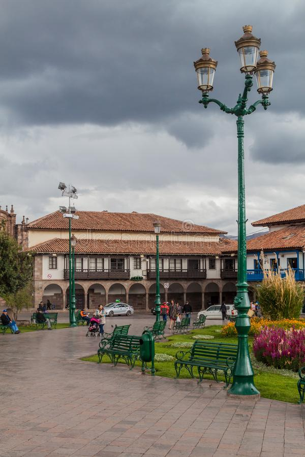 Place de Plaza de Armas dans Cuzco, Pérou image libre de droits