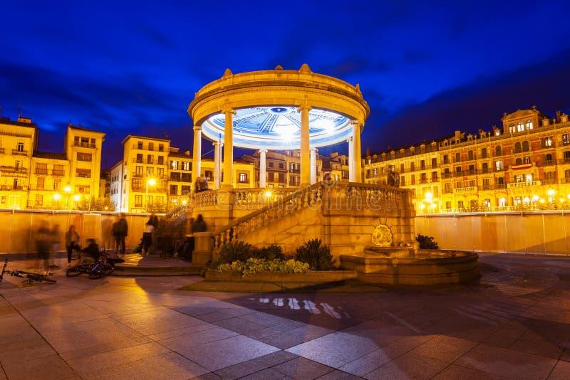 Place de Plaza del Castillo, Pamplona photographie stock libre de droits