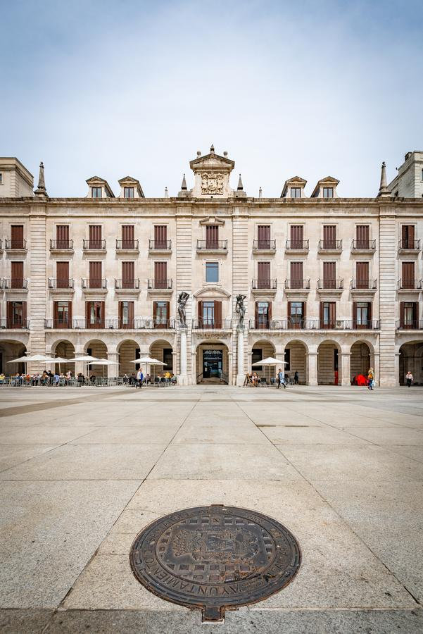 Place de Porticada à Santander, la Cantabrie, Espagne photo stock