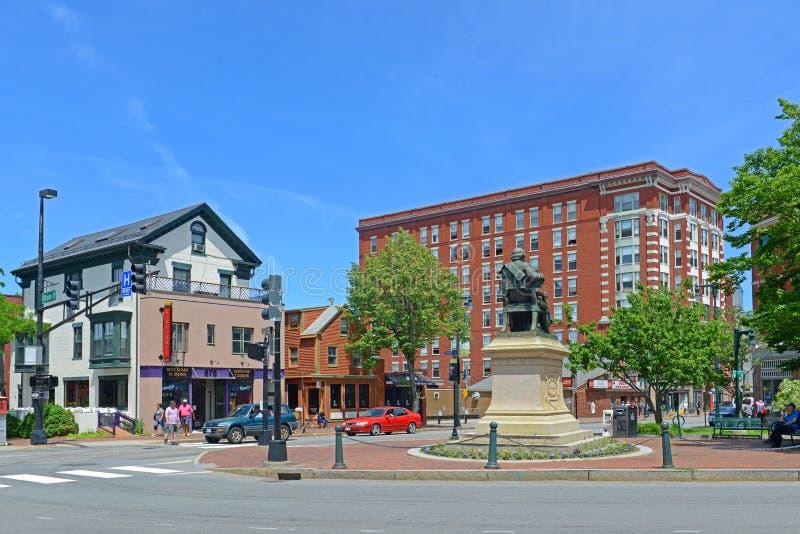 Place de Portland Longfellow, Maine, Etats-Unis photos libres de droits